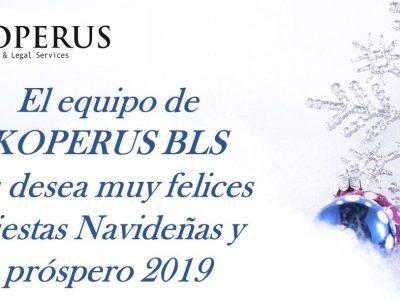 Felicitación de navidad de los abogados de Koperus