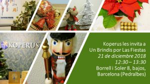 Los Abogados de Koperus les invitan a Un Brindis por Las Fiesta